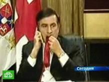 Переживания заставили Саакашвили есть галстук.грузия Южная Осетия Россия конфликт Саакашвили галстук.НТВ.Ru: новости, видео, программы телеканала НТВ
