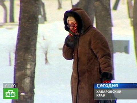 В Хабаровске стоят аномальные морозы.морозы, погода, Хабаровский край.НТВ.Ru: новости, видео, программы телеканала НТВ