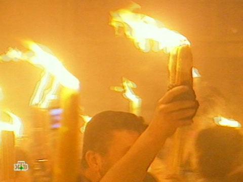 Святой свет сошел к людям.Иерусалим, Израиль, Пасха, праздники, религия.НТВ.Ru: новости, видео, программы телеканала НТВ