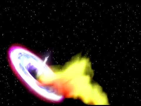 НАСА показало, как черная дыра поглощает звезду.астрономия, звезды, космос, спутники, черные дыры.НТВ.Ru: новости, видео, программы телеканала НТВ