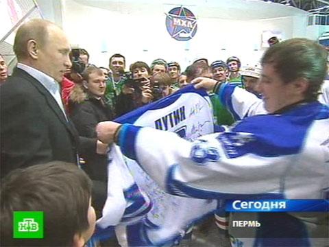 Путин выводит ночной спорт из тени.Путин, хоккей.НТВ.Ru: новости, видео, программы телеканала НТВ