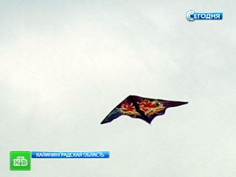 НЛО победило блестящего человечка.воздушные змеи, Калининградская область, соревнования.НТВ.Ru: новости, видео, программы телеканала НТВ