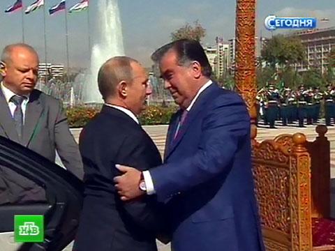 Путин подарил юбиляру Рахмону новейшую винтовку.оружие, подарки, Путин, Таджикистан, юбилеи и даты.НТВ.Ru: новости, видео, программы телеканала НТВ