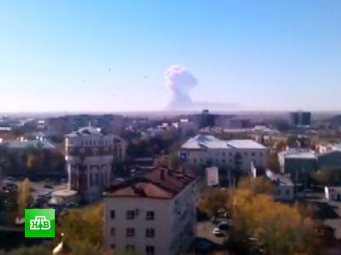 Первое видео с горящего полигона в Оренбургской области.взрывы, Оренбург, пожары, полигон.НТВ.Ru: новости, видео, программы телеканала НТВ