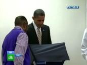 Б. Обама проголосовал досрочно.НТВ.Ru: новости, видео, программы телеканала НТВ