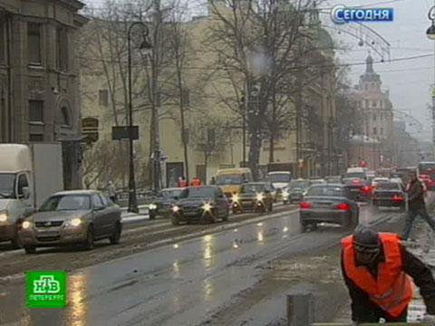 Первый сильный снегопад осложнил обстановку на петербургских дорогах.аэропорты, ДТП, погода, Санкт-Петербург, снегопады, уборка улиц.НТВ.Ru: новости, видео, программы телеканала НТВ