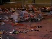 Ньюйоркцы превратили Таймс-сквер в гигантскую помойку.мусор, Новый год, Нью-Йорк, уборка улиц.НТВ.Ru: новости, видео, программы телеканала НТВ