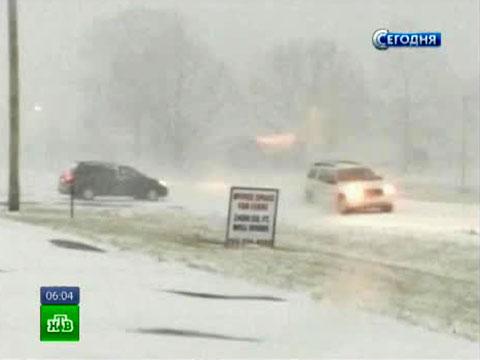 США терзает ледяной шторм сгромом имолниями.снегопады, стихия, США.НТВ.Ru: новости, видео, программы телеканала НТВ