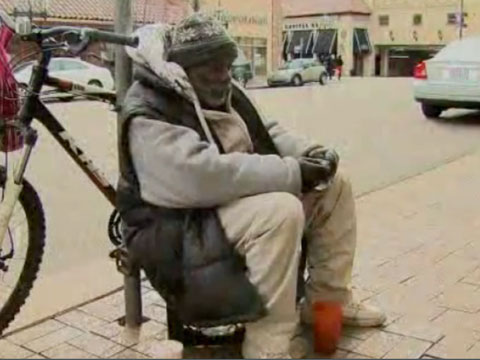 Честный бомж стал звездой Интернета.бездомные, бомжи, Интернет, США.НТВ.Ru: новости, видео, программы телеканала НТВ
