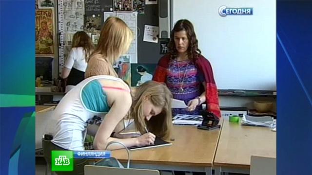 Финские школьники не корпят над книжками, а свободно общаются с учителями.образование, Финляндия, школы.НТВ.Ru: новости, видео, программы телеканала НТВ