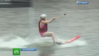 Уральские бабушки-экстремалки встали на водные лыжи