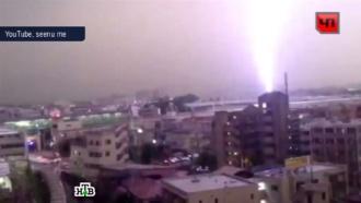 ВЯпонии молния ударила впассажирский поезд