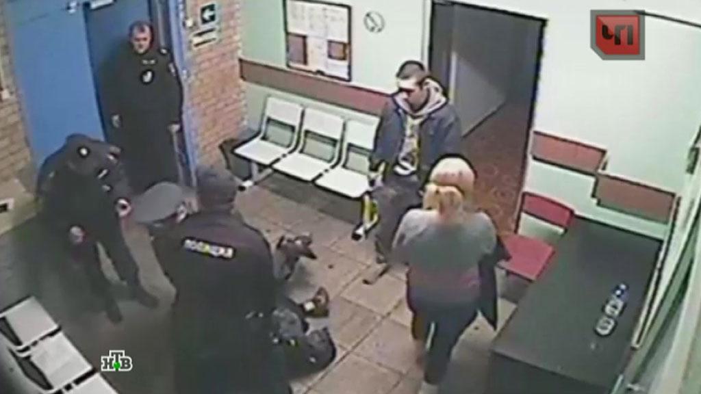 В полицейском участке видео конечно