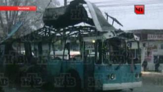 Опубликовано видео первых минут после взрыва вволгоградском троллейбусе