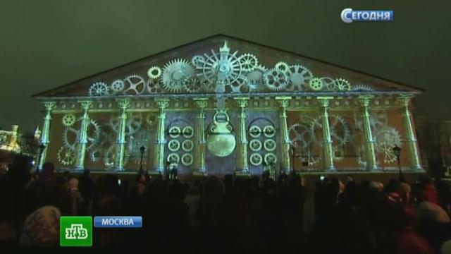«Сны Москвы» транслируют на здании «Манежа» в формате 3D.Манежная площадь, Москва, шоу.НТВ.Ru: новости, видео, программы телеканала НТВ