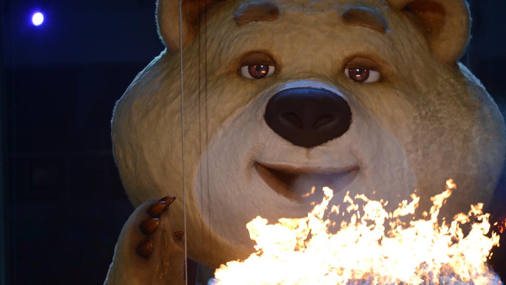 Олимпийский мишка картинки 2014, пятница музыкальная открытка