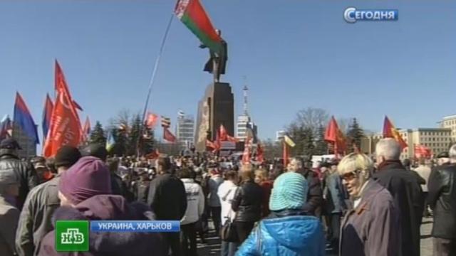 Тысячи харьковчан на очередном митинге добиваются автономии.митинги за рубежом, митинги и протесты, Украина, Харьков.НТВ.Ru: новости, видео, программы телеканала НТВ
