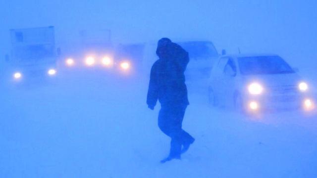 На Сахалине из-за непогоды не работает аэропорт изакрыты школы.аэропорты, метель, непогода, Сахалин, снегопад, школы.НТВ.Ru: новости, видео, программы телеканала НТВ