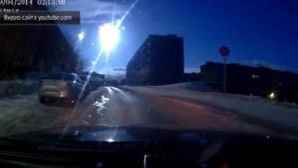 Жители Кольского полуострова сняли на видео яркий гигантский объект внебе