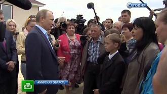 Путин осмотрел строящуюся Нижне-Бурейскую ГЭС в Благовещенске