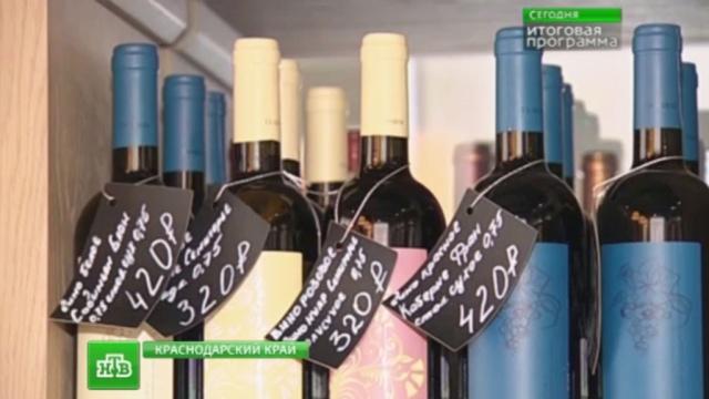 Россиян научат ценить отечественное вино.Краснодарский край, алкоголь, вино, торговля.НТВ.Ru: новости, видео, программы телеканала НТВ