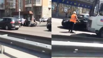 Lamborghini попала вДТП на Третьем транспортном кольце