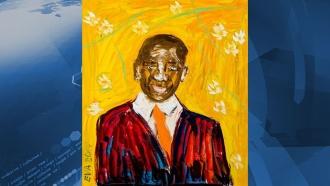 Военная миллионерша Васильева нарисовала портрет Барака Обамы