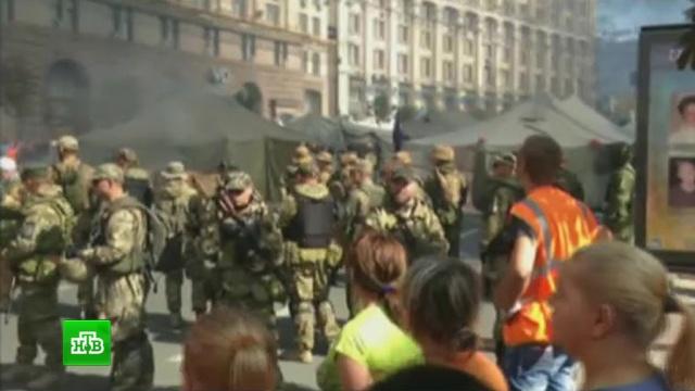 На подмогу «майдановцам» вКиев сюго-востока спешит батальон «Айдар».беспорядки, Киев, митинги и протесты, погромы, Украина.НТВ.Ru: новости, видео, программы телеканала НТВ
