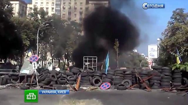 Украинская милиция выдавливает бесчинствующих радикалов с Майдана.Киев, Украина, беспорядки, митинги и протесты, погромы.НТВ.Ru: новости, видео, программы телеканала НТВ