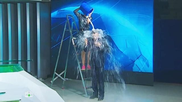 Ведущего НТВ облили ледяной водой впрямом эфире.НТВ, Санкт-Петербург, благотворительность, знаменитости, телевидение.НТВ.Ru: новости, видео, программы телеканала НТВ