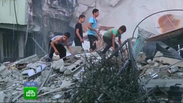 Израильские военные разбомбили жилую высотку в секторе Газа.Египет, Израиль, Ливан, Палестина, обстрел.НТВ.Ru: новости, видео, программы телеканала НТВ