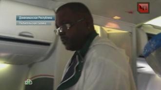 «Зараженный Эболой» американец вызвал панику в самолете