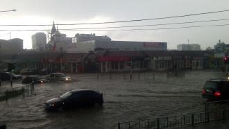 Анапу затопило дождями, вгороде введен режим ЧС