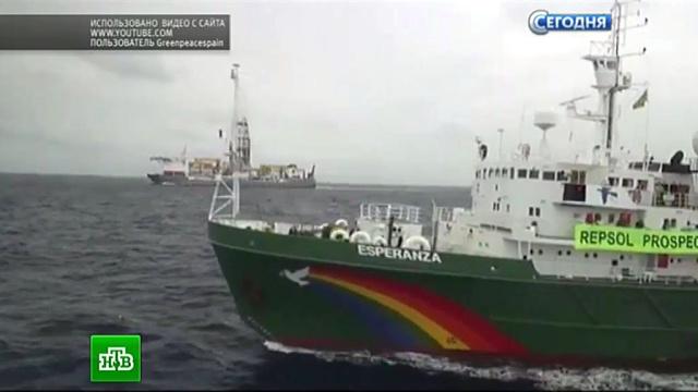 Greenpeace грозит штраф за очередную попытку штурма с участием Arctic Sunrise.Гринпис, Испания, аресты, корабли и суда, экология.НТВ.Ru: новости, видео, программы телеканала НТВ