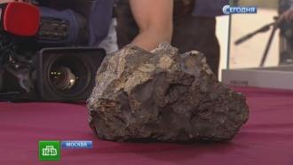 Москвичам привезли чудодейственный фрагмент челябинского метеорита