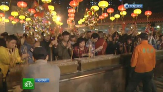 Китайский Новый год: впраздник люди разгоняли духов иобращались кшаманам