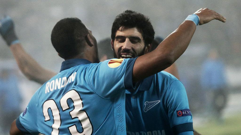 Футбол лига европы 1/ 8 зенит торино