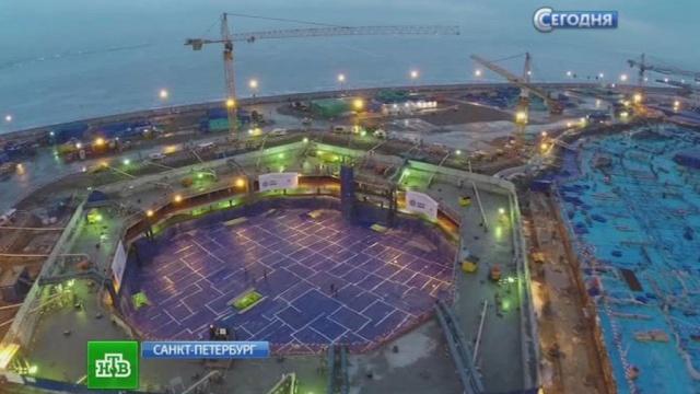 «Передовой рубеж мирового строительства»: вПетербурге заливают фундамент «Лахта-центра».Газпром нефть, Миллер, Санкт-Петербург, небоскребы, рекорды, строительство, технологии.НТВ.Ru: новости, видео, программы телеканала НТВ