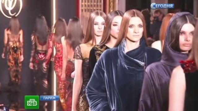 Валентин Юдашкин удивил Париж своей янтарной коллекцией.мода, Париж, Юдашкин.НТВ.Ru: новости, видео, программы телеканала НТВ