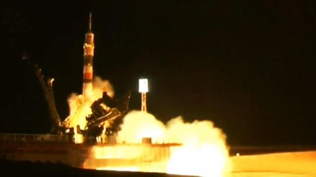 СБайконура кМКС стартовал «Союз ТМА-16М» смеждународным экипажем.Байконур, МКС, НАСА, Роскосмос, космонавтика, космос.НТВ.Ru: новости, видео, программы телеканала НТВ