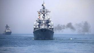 Военные корабли России иКитая отправились на учения вСредиземное море