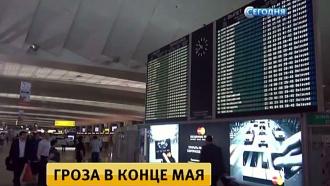 Аэропорты Москвы почти сутки не могут вернуться в график после повредившей самолеты грозы