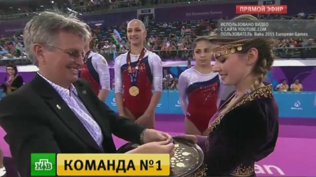 Россия лидирует на Европейских играх благодаря синхронисткам и гимнастам.Азербайджан, Баку, водные виды спорта, гимнастика, плавание, спорт.НТВ.Ru: новости, видео, программы телеканала НТВ