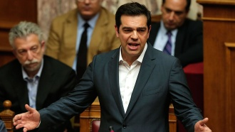 Перед голосованием Ципрас произнес впарламенте страстную речь