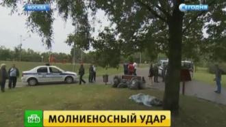 Убитый молнией московский рабочий во время грозы разговаривал по телефону