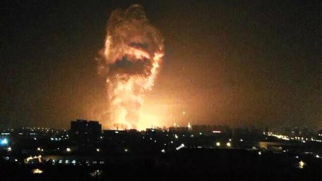 Взрыв вкитайском Тяньцзине был виден из космоса.Китай, взрывы.НТВ.Ru: новости, видео, программы телеканала НТВ