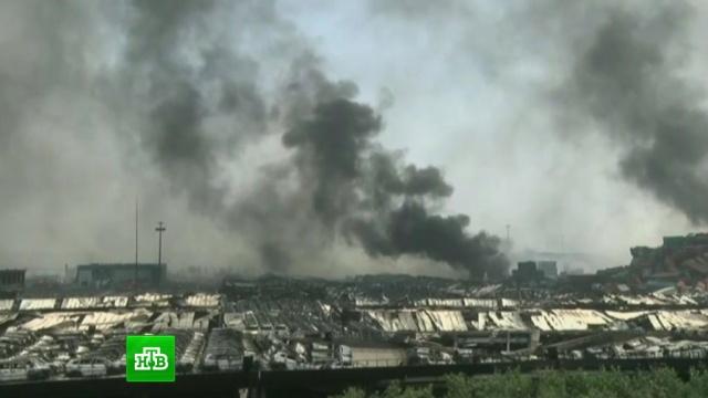 Портовый район Тяньцзина превратился в обугленную пустошь.Китай, взрывы, экология.НТВ.Ru: новости, видео, программы телеканала НТВ