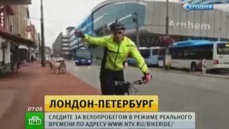 Исторический велопробег: шотландец отдохнул в Варшаве перед марш-броском