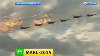 «Суперджет» поднялся в небо в заключительный день работы МАКС-2015