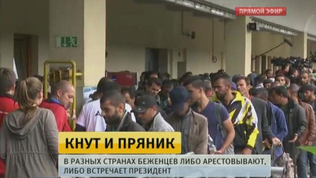 В Венгрии беженцев встречают силовики с резиновыми пулями и слезоточивым газом.Австрия, Венгрия, Германия, Европейский союз, беженцы.НТВ.Ru: новости, видео, программы телеканала НТВ
